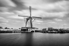 Black and white windmill Stock Image