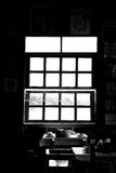 Black and white window Royalty Free Stock Photos