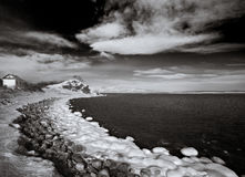 Black&white winter. Near Vladivostok, Russia, Far-East. Winter Stock Photo