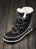 Black and white winter boots Stock Image
