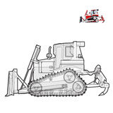 Black and white wire big digger Royalty Free Stock Images