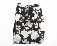 Black and white women's skirt. Royalty Free Stock Image