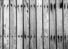 Black and white wood background Stock Images