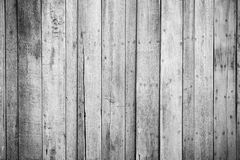 Black and white wood plank wall texture background Stock Images