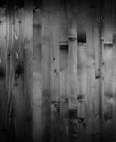 Black and white wood texture. Stock Image