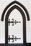 Black white wooden door portal entry architecture Royalty Free Stock Image