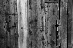 Black and white wooden old wall background Royalty Free Stock Photo