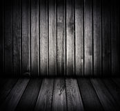 Black and white wooden room Royalty Free Stock Image
