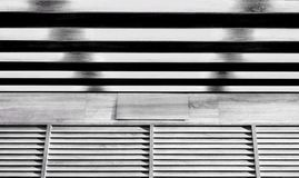 Black and white wooden storefront with shadow Royalty Free Stock Photo