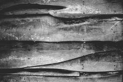 Black and white wooden texture Stock Photos
