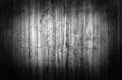 Black and white wooden wall Stock Images