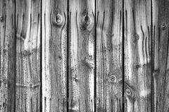Black and White wooden wall. Royalty Free Stock Photo