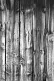 Black and White wooden wall. Stock Photos