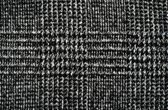 Black and white wool twill pattern. Royalty Free Stock Photo