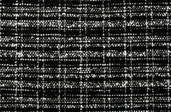 Black and white wool twill pattern. Stock Photography
