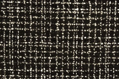 Black and white wool twill pattern. Stock Image