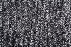 Black and white woolen texture Stock Images