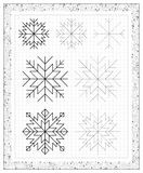 Black and white worksheet on a square paper with exercises for little children. Royalty Free Stock Photo