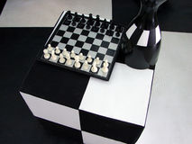The black-and-white world. This is abstract world of chess Royalty Free Stock Photography