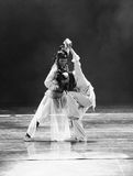 Black and white world -The dance drama The legend of the Condor Heroes. In December 2, 2014, a large Chinese dance drama the legend of the Condor Heroes for the Royalty Free Stock Images