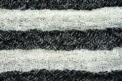 Black and white woven fabric texture Stock Photos