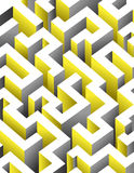 Black, white and yellow maze, labyrinth. Stock Photography
