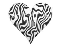 Black and White Zebra Heart Symbol Stock Images