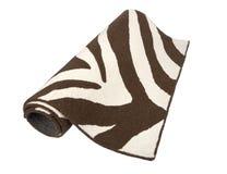 Black and white zebra patterned rug Royalty Free Stock Photo