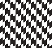 Black and White Zig Zag Vector Seamless Pattern. Stock Photo