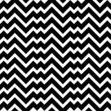 Black and white zigzag chevron minimal simple seamless pattern Stock Photography
