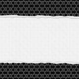 Black and White Zigzag Frame with Torn Background. With center for copy-space, Classic Torn Zigzag Frame stock photos
