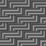 Black and white zigzag pattern  Royalty Free Stock Photo