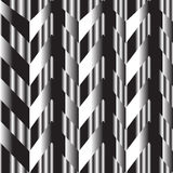 Black and white zigzag silver background Stock Photography