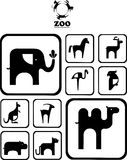 Black and white Zoo logo. Stock Images