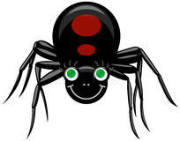 Black Widow. Vector illustration of black widow Royalty Free Stock Photo