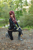 Black Widow at Lucca Comics and Games 2014 Royalty Free Stock Photo