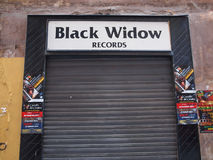 Black Widow records Stock Photo