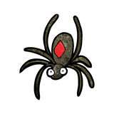 Black widow spider cartoon Stock Photography
