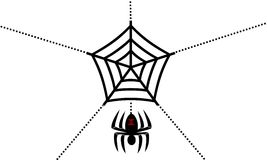 Black widow spider and web background Royalty Free Stock Photography
