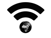 Black WiFi symbol Stock Image