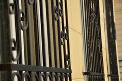 Black Window Bars royalty free stock photos