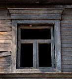 Black Window burned house Royalty Free Stock Photography