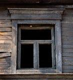 Black Window burned house Royalty Free Stock Photography