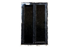 Black windows art style Royalty Free Stock Photo