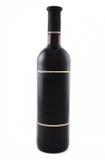 Black wine bottle Royalty Free Stock Photo