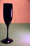 Black Wine Glass Pink Gray Background Stock Image