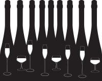 Black Wine list Stock Image