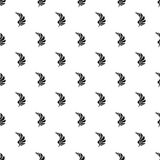 Black wing of birds pattern, simple style Royalty Free Stock Photo