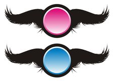 Black Wings. Illustration of black wings / Vector illustration Royalty Free Stock Images