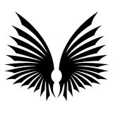Black wings sign. Royalty Free Stock Photos